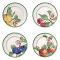 Villeroy & Boch - French Garden Modern Fruits - zestaw 4 talerzy płaskich - średnica: 26 cm