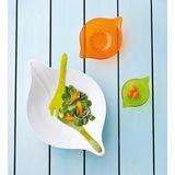 Koziol - Leaf M - miska sałatkowa i łyżki do sałaty