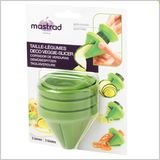 Mastrad - krajacze-temperówki do warzyw - 5 elementów; 3 ostrza