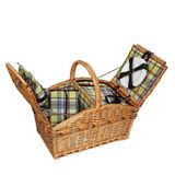Cilio - Verbania deluxe - kosz piknikowy z wyposażeniem dla 4 osób - wymiary: 51 x 33 x 43 cm