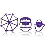 Cuisipro - Halloween - foremki do ciasteczek - Pajęczyna, Frankenstein, duszek
