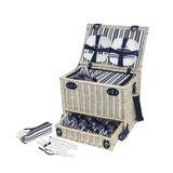Cilio - Cellina - kosz piknikowy z wyposażeniem dla 4 osób - wymiary: 44 x 30 x 36 cm