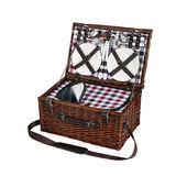 Cilio - Varesse - kosz piknikowy z wyposażeniem dla 4 osób - wymiary: 46 x 30 x 18 cm