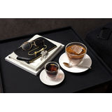 Villeroy & Boch - Manufacture Rock blanc - spodek do filiżanki do kawy z mlekiem