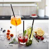 Gefu - Future - zestaw 4 szklanych słomek