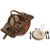 Alessi - Dressed En Plein Air - kosz piknikowy z wyposażeniem dla 4 osób - długość: 34,5 cm