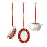 Villeroy & Boch - Toy's Delight Decoration - 3 zawieszki - naczynia do serwowania - wysokość: 6 cm