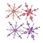 Koziol - Flakes - 2 dekoracje śnieżynki - wymiary: 15,8 x 11,8 cm