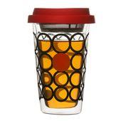 Sagaform - Tea - szklany kubek z zaparzaczem - pojemność: 0,3 l