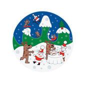 A di Alessi - Happy Snowtime - talerz na ciasto - średnica: 32 cm