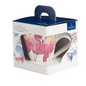 Villeroy & Boch - New Wave Caffe Flamingo - kubek w opakowaniu prezentowym - pojemność: 0,35 l
