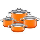 Silit - Passion Orange - 4-częściowy komplet garnków