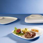 Villeroy & Boch - BBQ Passion - zestaw 4 talerzy do steków - wymiary: 24 x 22 cm