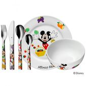 WMF - Mickey Mouse - zestaw obiadowy dla dzieci - 6 elementów