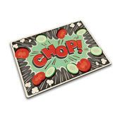 Joseph Joseph - Komiks - podkładka kuchenna - szkło; 30 x 40 cm