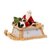 Villeroy & Boch - Nostalgic Melody - pozytywka sanie św. Mikołaja - wysokość: 10 cm