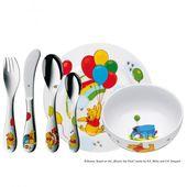 WMF - Kubuś Puchatek - zestaw naczyń i sztućców dla dzieci - 6 elementów