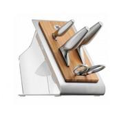 WMF - Chef's Edition - noże i nożyce w bloku - 4 sztuki + blok