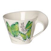 Villeroy & Boch - New Wave Caffe Deep green hairstreak - filiżanka do białej kawy - pojemność: 0,4 l