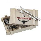 WMF - zestaw sztućców do steków - dla 6 osób; w pudełku