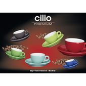 Cilio - Roma - kolorowe filiżanki do espresso ze spodkami - 50 ml
