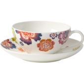 Villeroy & Boch - Anmut Bloom - filiżanka do herbaty ze spodkiem - pojemność: 0,2 l