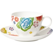 Villeroy & Boch - Anmut Bloom - filiżanka do kawy ze spodkiem - pojemność: 0,2 l
