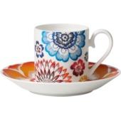 Villeroy & Boch - Anmut Bloom - filiżanka do espresso ze spodkiem - pojemność: 0,1 l