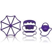 """Cuisipro - Halloween - foremki do ciasteczek """"Halloween"""" - Pajęczyna, Frankenstein, duszek"""
