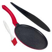 Mastrad - zestaw do naleśników - patelnia, szpatułka i pędzelek