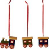 Villeroy & Boch - Nostalgic Ornaments - 3 zawieszki - pociąg - wysokość: 5,6 cm