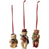 Villeroy & Boch - Nostalgic Ornaments - 3 zawieszki - pluszowe misie - wysokość: 9,5 cm