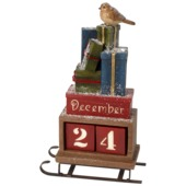Villeroy & Boch - Christmas Toys 2017 - kalendarz grudniowy - sanie prezentów - wymiary: 20,5 x 8,5 x 35 cm