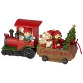 Villeroy & Boch - Christmas Toys 2017 - figurka - pociąg kolędników - wymiary: 27 x 7,5 x 13 cm