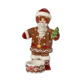 Villeroy & Boch - Winter Bakery Decoration - świecznik na tealight - piernikowy Mikołaj - wysokość: 16 cm