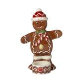 Villeroy & Boch - Winter Bakery Decoration - świecznik na tealight - piernikowy ludzik - wysokość: 17 cm