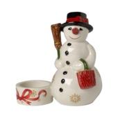 Villeroy & Boch - Christmas Light - świecznik na tealight - bałwanek - wysokość: 12,2 cm