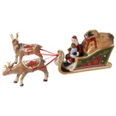 Villeroy & Boch - Christmas Toys - lampion - sanie Mikołaja - wymiary: 47 x 10 x 16 cm