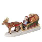 Villeroy & Boch - North Pole Express - świecznik - sanie Mikołaja - wymiary: 23 x 8,5 x 11 cm