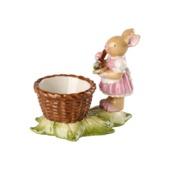 Villeroy & Boch - Bunny Family - kieliszek na jajko - zajęcza dziewczynka - wymiary: 10 x 6 x 8 cm