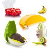 Tomorrow's Kitchen - zestaw pojemników na owoce - na kiwi, banana, awokado i pomidorki koktajlowe