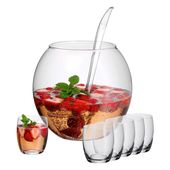 WMF - zestaw do ponczu - waza, chochla i 6 szklanek