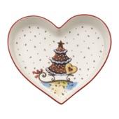 Villeroy & Boch - Winter Bakery Delight - miska serce - wymiary: 19 x 25,5 cm