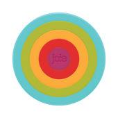 MSC - Rainbow - zestaw 5 podkładek pod gorące naczynia - średnica: 16,5 cm