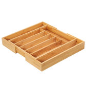 Zassenhaus - Bambus - regulowany wkład na sztućce - szerokość: od 34,5 do 47,5 cm
