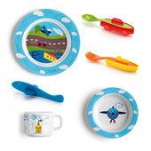 Guzzini - Traffic - zestaw naczyń i sztućców dla dzieci - 6 elementów