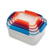 Joseph Joseph - Nest Lock - zestaw 4 pojemników na żywność - pojemności: 0,54 l; 1,1 l; 1,85 l; 3,0 l
