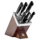 Zwilling - FOUR STAR - zestaw noży w bloku ostrzącym - 5 noży i nożyce