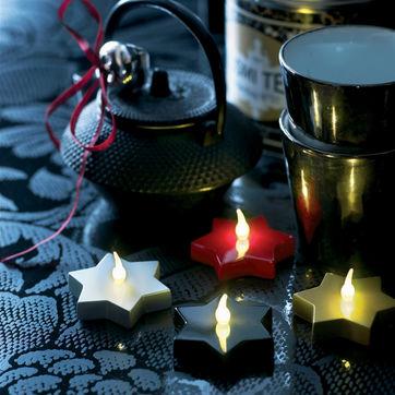 Sirius - Mirela - 2 świecące gwiazdki złote - światełko LED