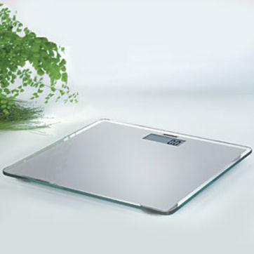 Soehnle - Slim Silver - elektroniczna waga łazienkowa - nośność: 150 kg